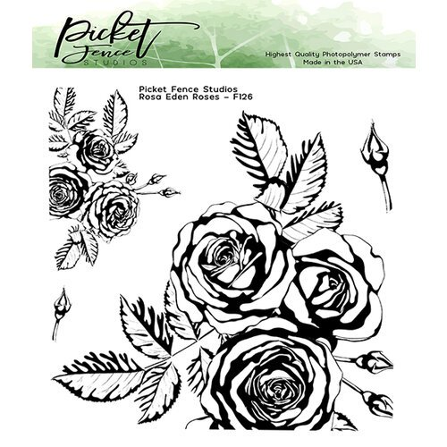 Picket Fence Studios - Clear Photopolymer Stamps - Rosa Eden Roses