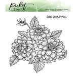 Picket Fence Studios - Clear Photopolymer Stamps - Dahlia Bouquet