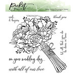 Picket Fence Studios - Clear Photopolymer Stamps - A Bride's Bouquet