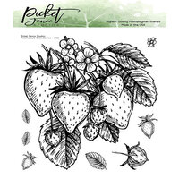 Picket Fence Studios - Clear Photopolymer Stamps - Ponchatoula Strawberries
