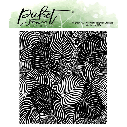 Picket Fence Studios - Clear Photopolymer Stamps - Exotic Leaves