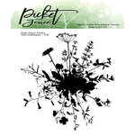 Picket Fence Studios - Clear Photopolymer Stamps - Wild Wildflowers