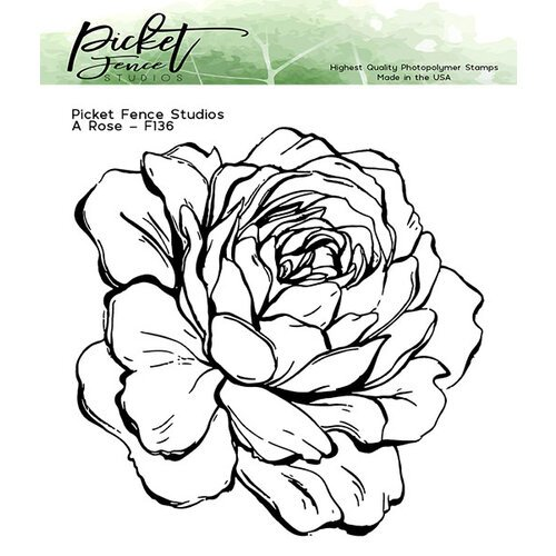 Picket Fence Studios - Clear Photopolymer Stamps - A Rose