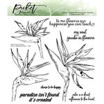 Picket Fence Studios - Clear Photopolymer Stamps - Bird of Paradise Flowers