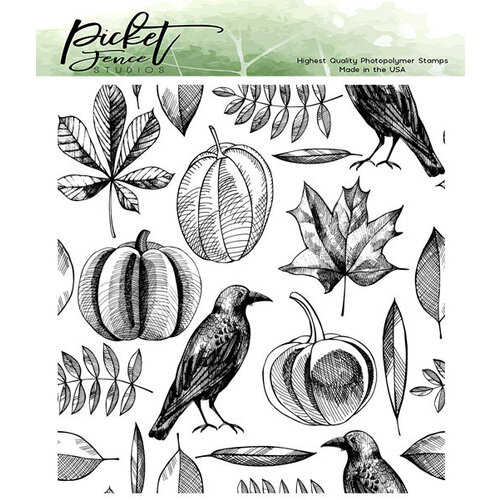 Picket Fence Studios - Clear Photopolymer Stamps - Autumn Harvest Collage