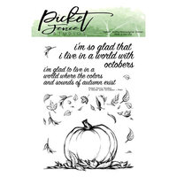 Picket Fence Studios - Clear Photopolymer Stamps - A World of Octobers
