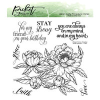 Picket Fence Studios - Clear Photopolymer Stamps - Wild Peonies