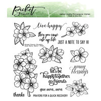Picket Fence Studios - Clear Photopolymer Stamps - Que Sera, Sera