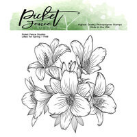 Picket Fence Studios - Clear Photopolymer Stamps - Lilies for Spring