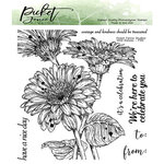 Picket Fence Studios - Clear Photopolymer Stamps - Wild Daisies
