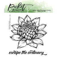 Picket Fence Studios - Clear Photopolymer Stamps - Torch Ginger Tropical Flower