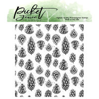 Picket Fence Studios - Clear Photopolymer Stamps - Falling Pinecones