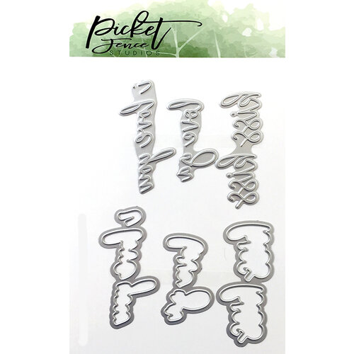 Picket Fence Studios - Dies - Love Set Foil