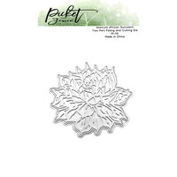 Picket Fence Studios - Clear Photopolymer Stamps - Aeonium African Succulent Foiled