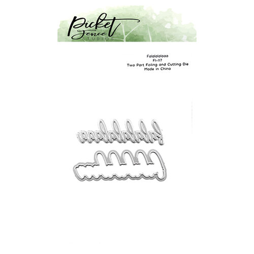 Picket Fence Studios - Dies - Falalalala Foiled Impression
