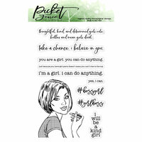 Picket Fence Studios - Clear Photopolymer Stamps - girlboss