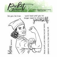 Picket Fence Studios - Clear Photopolymer Stamps - girlboss Faith