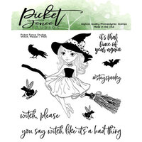 Picket Fence Studios - Clear Photopolymer Stamps - Witch Please