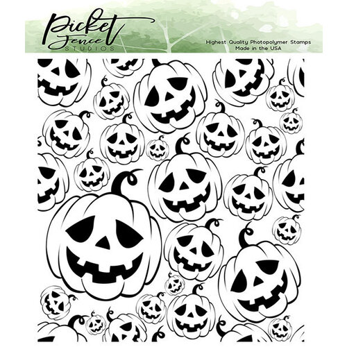 Picket Fence Studios - Clear Photopolymer Stamps - Jack-O-Lanterns