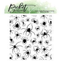 Picket Fence Studios - Halloween - Clear Photopolymer Stamps - Marching Spiders
