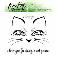 Picket Fence Studios - Clear Photopolymer Stamps - Cali Kitten