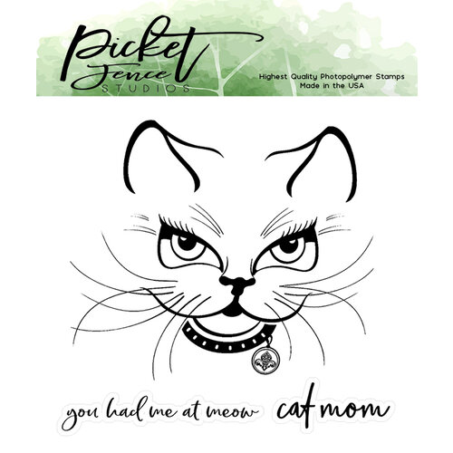 Picket Fence Studios - Clear Photopolymer Stamps - Sophie Kitten