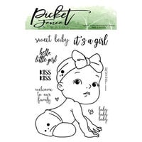 Picket Fence Studios - Clear Photopolymer Stamps - Baby Girl of All Seasons
