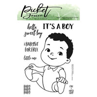 Picket Fence Studios - Clear Photopolymer Stamps - Baby Boy of All Seasons