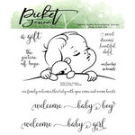 Picket Fence Studios - Clear Photopolymer Stamps - Sleeping Baby