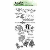 Picket Fence Studios - Clear Photopolymer Stamps - Schools of Fish