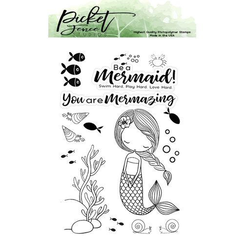 Picket Fence Studios - Clear Photopolymer Stamps - Little Coral Girl