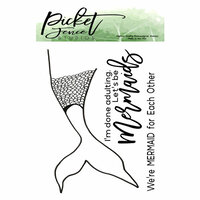 Picket Fence Studios - Clear Photopolymer Stamps - Mermaid Tail