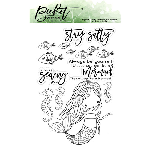 Picket Fence Studios - Clear Photopolymer Stamps - I am a Mermaid