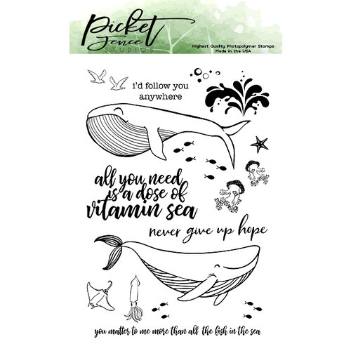 Picket Fence Studios - Clear Photopolymer Stamps - A Dose of Vitamin Sea