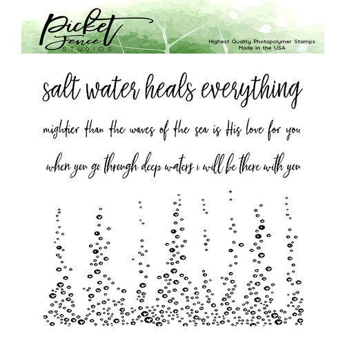 Picket Fence Studios - Clear Photopolymer Stamps - A Bottomless Sea