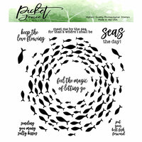 Picket Fence Studios - Clear Photopolymer Stamps - Vortex of Fish