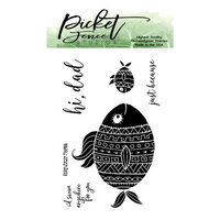 Picket Fence Studios - Clear Photopolymer Stamps - Fishy Kisses