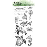 Picket Fence Studios - Clear Photopolymer Stamps - Swim In The Sea