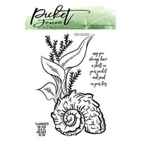 Picket Fence Studios - Clear Photopolymer Stamps - Nautilus Shell Scene