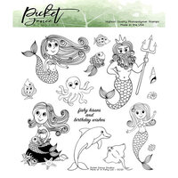 Picket Fence Studios - Clear Photopolymer Stamps - More of a Fishy Lot