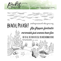 Picket Fence Studios - Clear Photopolymer Stamps - You Were Mermaid For Me