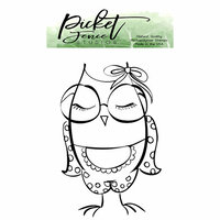 Picket Fence Studios - Clear Photopolymer Stamps - Nerdy Girl Owl