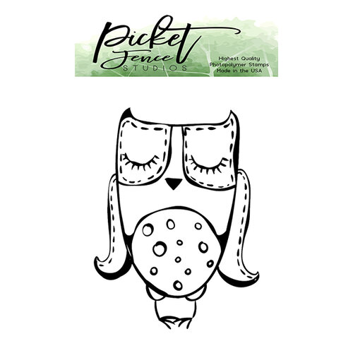 Picket Fence Studios - Clear Photopolymer Stamps - Quilting Owl