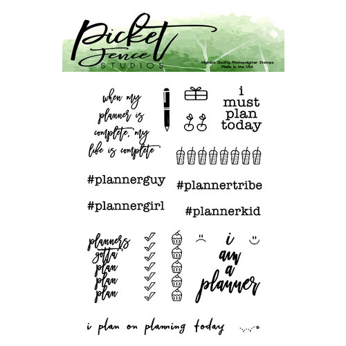 Picket Fence Studios - Clear Photopolymer Stamps - Planners Gotta Plan