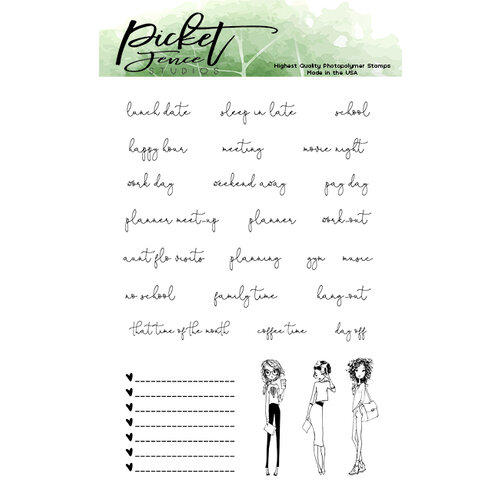 Picket Fence Studios - Clear Photopolymer Stamps - Planner Girls Hang Out