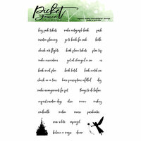 Picket Fence Studios - Clear Photopolymer Stamps - Planner Girls Before Magical Vacation