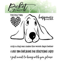 Picket Fence Studios - Clear Photopolymer Stamps - Lucky Puppy