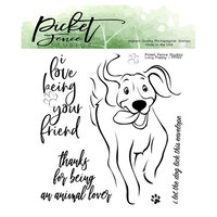 Picket Fence Studios - Clear Photopolymer Stamps - Lucy Puppy