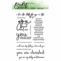 Picket Fence Studios - Clear Photopolymer Stamps - Forever and Ever