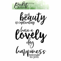 Picket Fence Studios - Clear Photopolymer Stamps - Happiness Belongs To You
